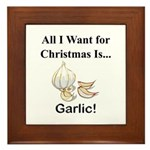 Christmas Garlic Framed Tile