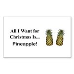 Christmas Pineapple Sticker (Rectangle 10 pk)