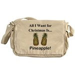 Christmas Pineapple Messenger Bag