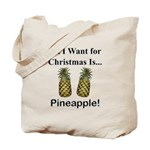 Christmas Pineapple Tote Bag