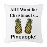 Christmas Pineapple Woven Throw Pillow