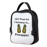 Christmas Pineapple Neoprene Lunch Bag