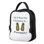 Christmas Pineapple Neoprene Lunch Bag