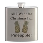 Christmas Pineapple Flask