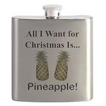 Christmas Pineapple Flask