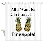 Christmas Pineapple Shower Curtain