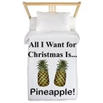 Christmas Pineapple Twin Duvet