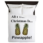 Christmas Pineapple Queen Duvet