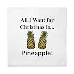 Christmas Pineapple Queen Duvet
