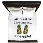 Christmas Pineapple King Duvet