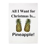 Christmas Pineapple 5'x7'Area Rug