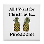 Christmas Pineapple Tile Coaster