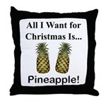 Christmas Pineapple Throw Pillow