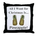 Christmas Pineapple Throw Pillow