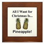 Christmas Pineapple Framed Tile