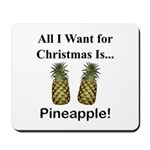 Christmas Pineapple Mousepad