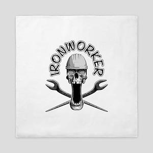 Ironworker Skull Queen Duvet