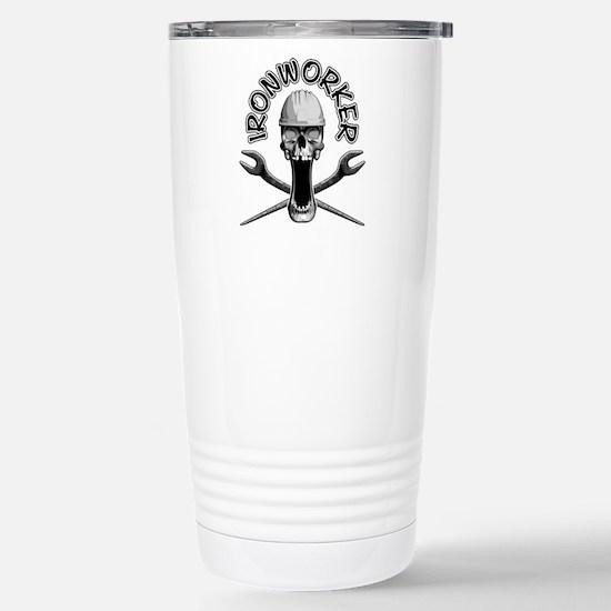 Ironworker Skull Travel Mug
