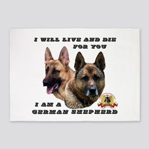 GSD Live and Die For You 5'x7'Area Rug