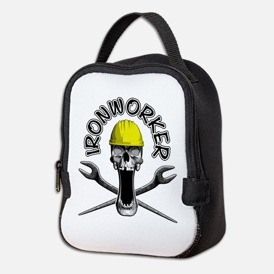 Ironworker Skull 2 Neoprene Lunch Bag