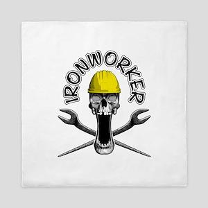 Ironworker Skull 2 Queen Duvet