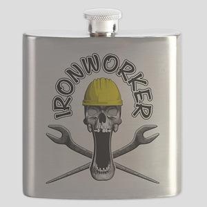 Ironworker Skull 2 Flask