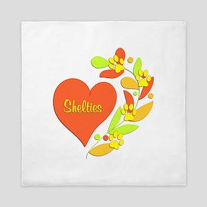 Sheltie Heart Queen Duvet