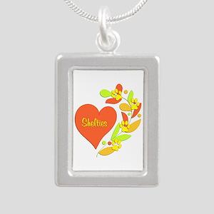 Sheltie Heart Silver Portrait Necklace