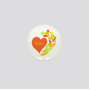 Sheltie Heart Mini Button