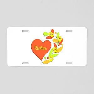 Sheltie Heart Aluminum License Plate