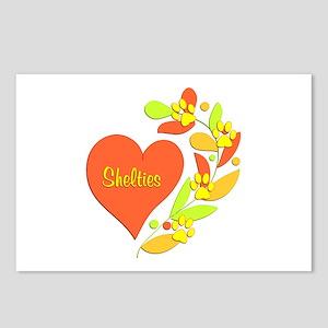 Sheltie Heart Postcards (Package of 8)