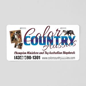 Business card design  Aluminum License Plate
