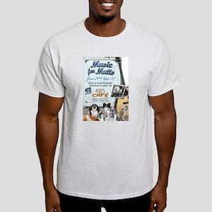 """Faithful Friends """"Music for Mutts"""" Light T-Shirt"""