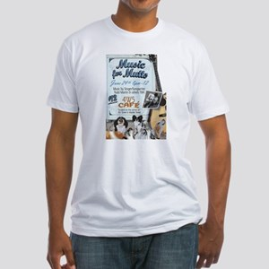 "Faithful Friends ""Music For Mutts"" Fitted T-Shirt"