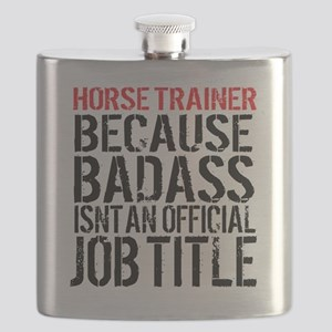 Horse Trainer Badass Job Title Flask