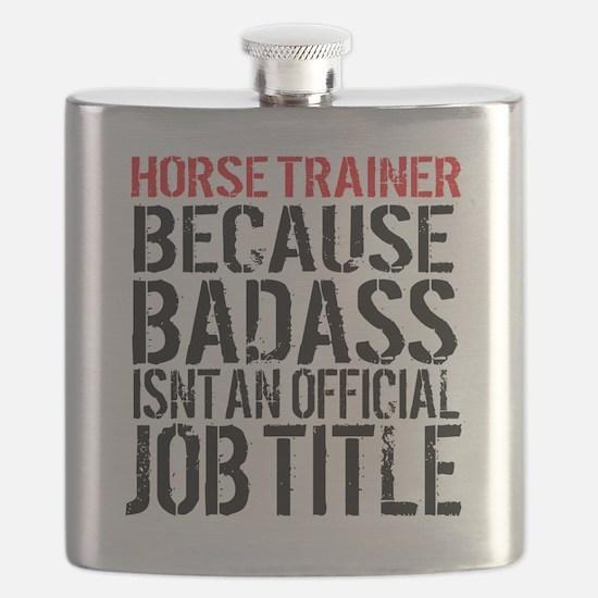 Horse Trainer Badass Job Title Flask