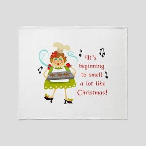 SMELLS LIKE CHRISTMAS Throw Blanket