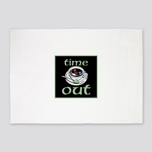 OYOOS Time Out Coffee Cup design 5'x7'Area Rug