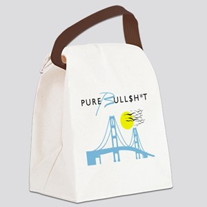 Pure Michigan - Pure Bull$h*t Canvas Lunch Bag
