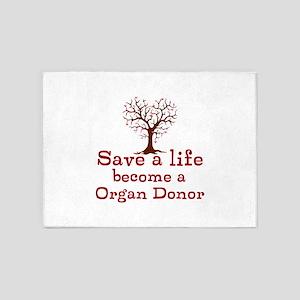 Save A Life 5'x7'Area Rug