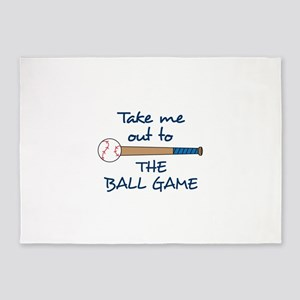 OUT TO THE BALLGAME 5'x7'Area Rug