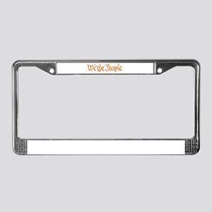 We The People License Plate Frame