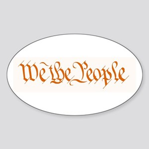 We The People Oval Sticker