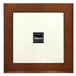 Silent Discussion Framed Tile