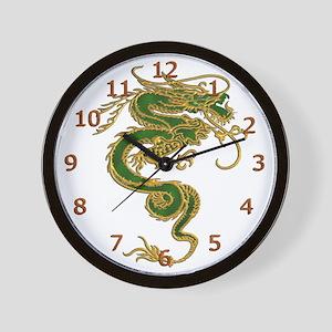 Emerald Dragon Wall Clock