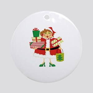CHRISTMAS SHOPPING Ornament (Round)