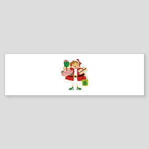 CHRISTMAS SHOPPING Bumper Sticker
