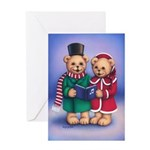 Bear Carolers Greeting Card