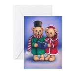 Bear Carolers Greeting Cards (Pk of 20)