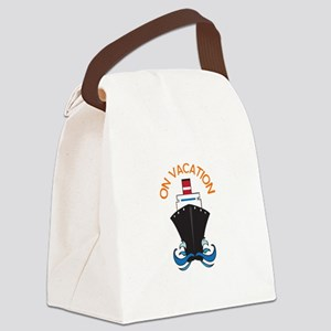 ON VACATION Canvas Lunch Bag